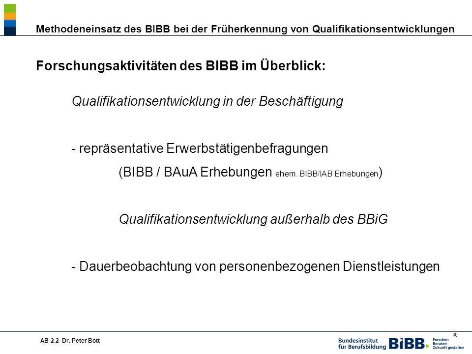 Forschungsaktivitäten des BIBB im Überblick: