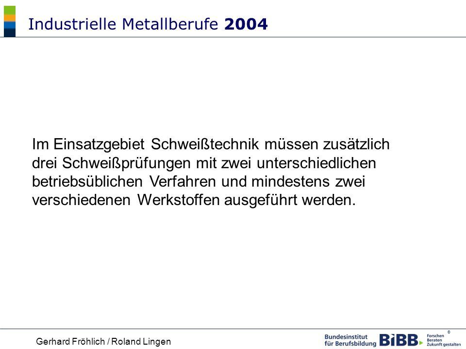Industrielle Metallberufe 2004