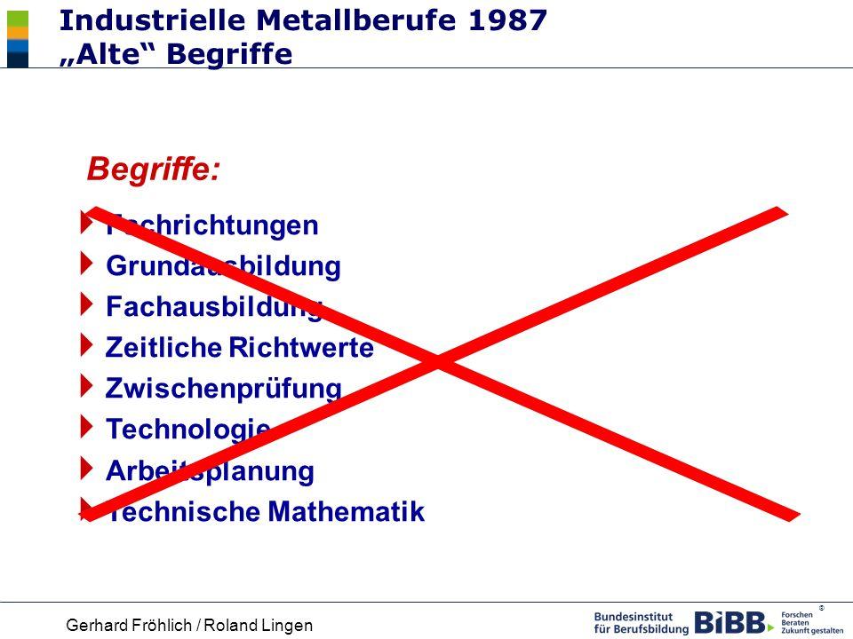 "Industrielle Metallberufe 1987 ""Alte Begriffe"