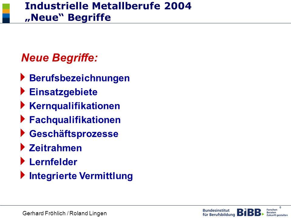 """Industrielle Metallberufe 2004 """"Neue Begriffe"""