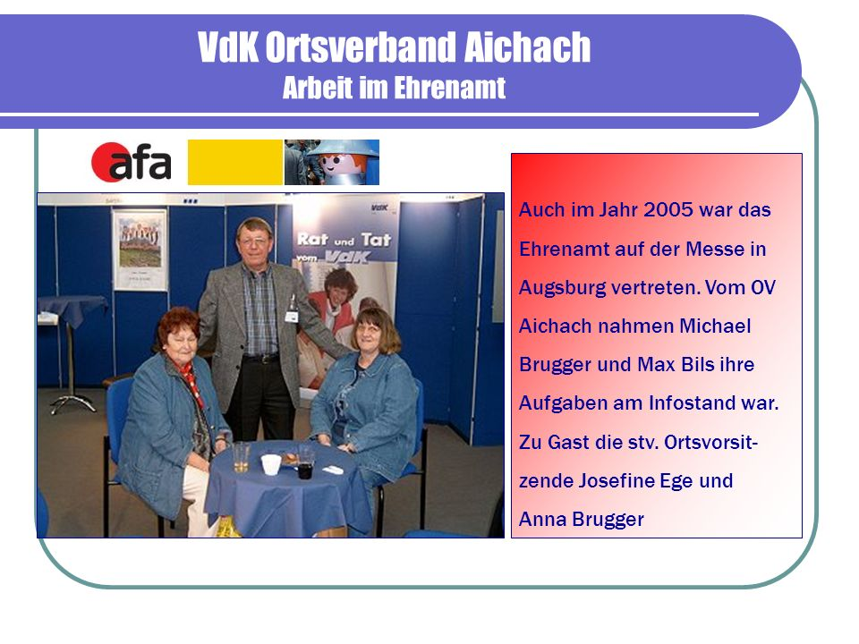 VdK Ortsverband Aichach Arbeit im Ehrenamt