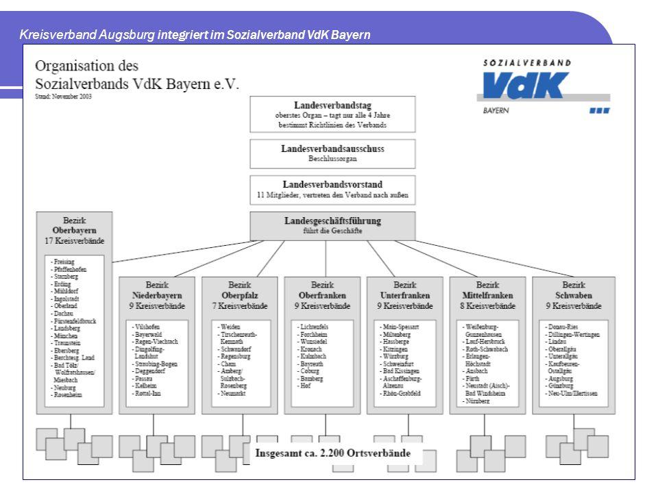 Kreisverband Augsburg integriert im Sozialverband VdK Bayern
