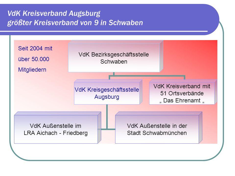 VdK Kreisverband Augsburg größter Kreisverband von 9 in Schwaben