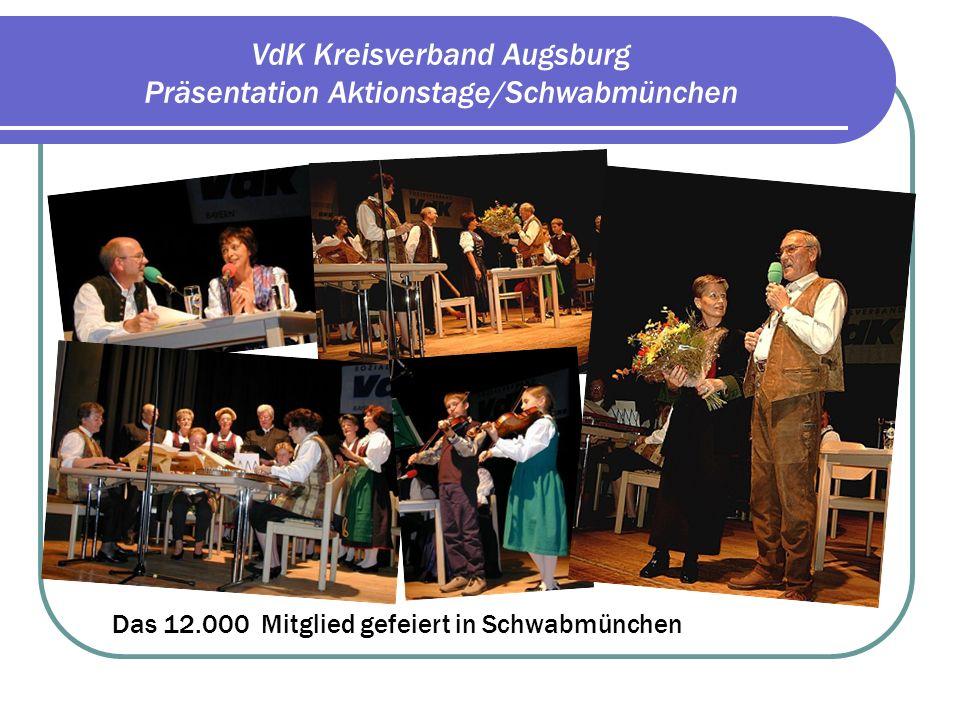 VdK Kreisverband Augsburg Präsentation Aktionstage/Schwabmünchen