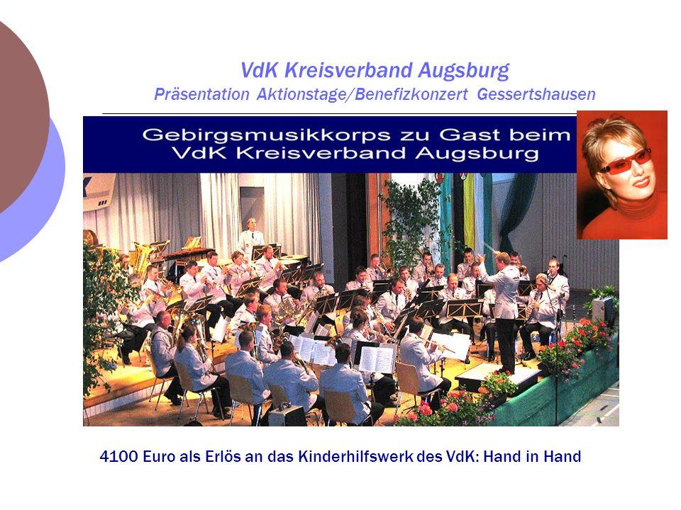 4100 Euro als Erlös an das Kinderhilfswerk des VdK: Hand in Hand