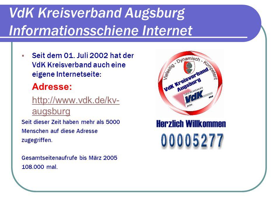 VdK Kreisverband Augsburg Informationsschiene Internet