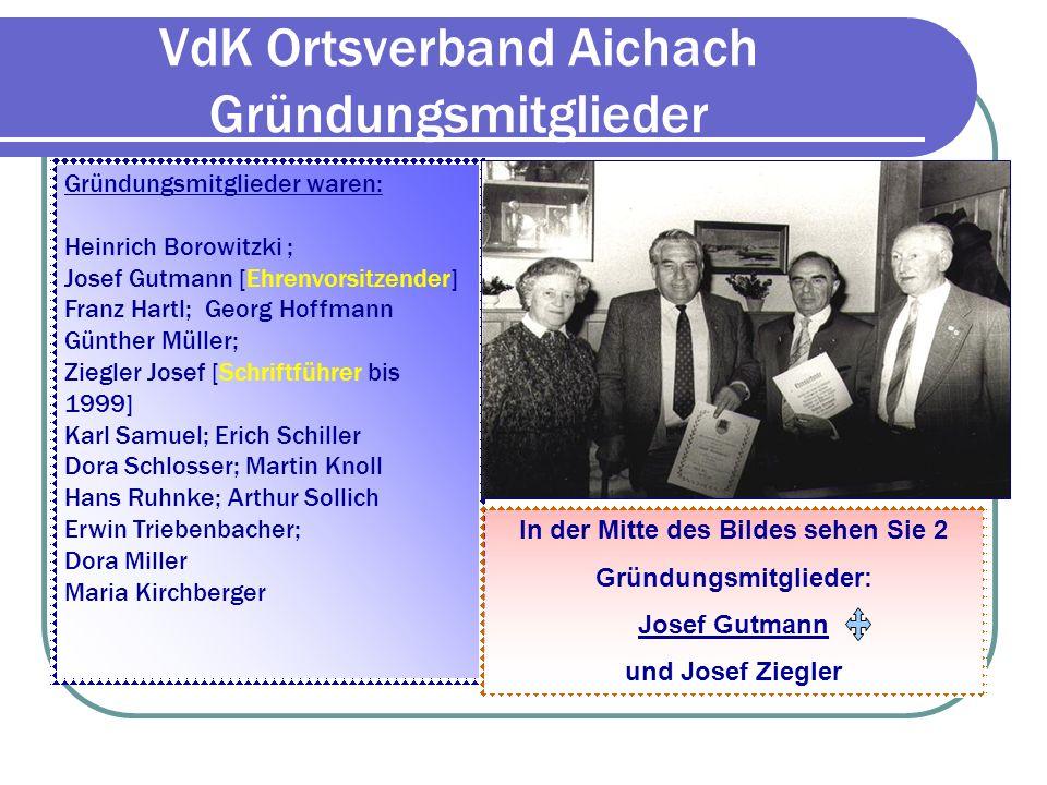 VdK Ortsverband Aichach Gründungsmitglieder