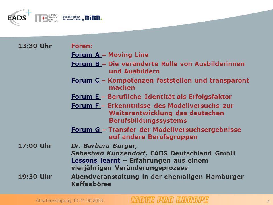 Forum B – Die veränderte Rolle von Ausbilderinnen und Ausbildern