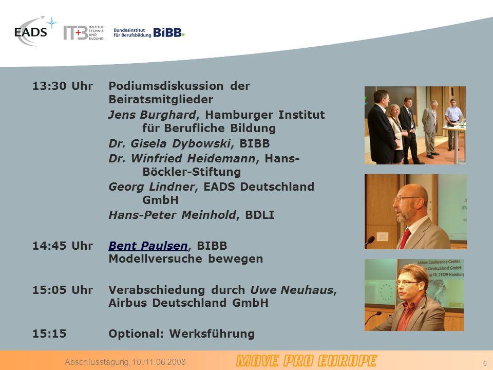 Podiumsdiskussion der Beiratsmitglieder