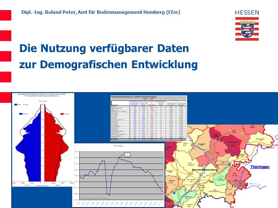 Die Nutzung verfügbarer Daten zur Demografischen Entwicklung