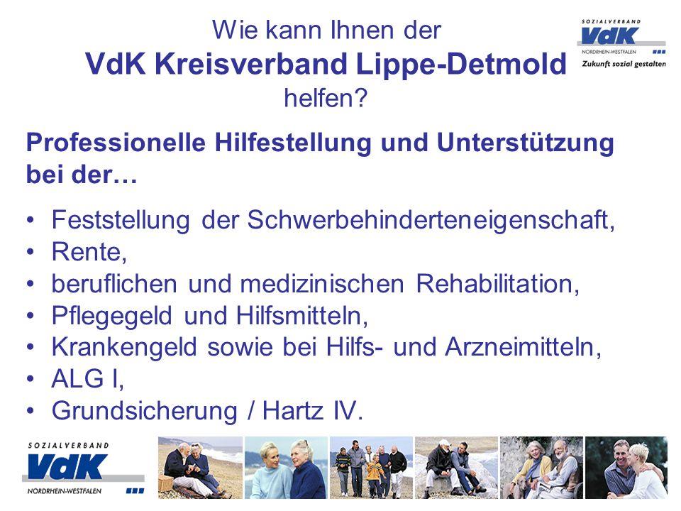 Wie kann Ihnen der VdK Kreisverband Lippe-Detmold helfen