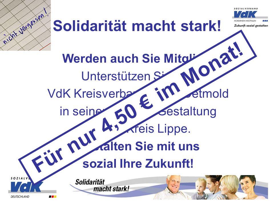 Solidarität macht stark!