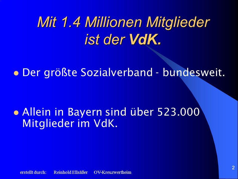 Mit 1.4 Millionen Mitglieder ist der VdK.