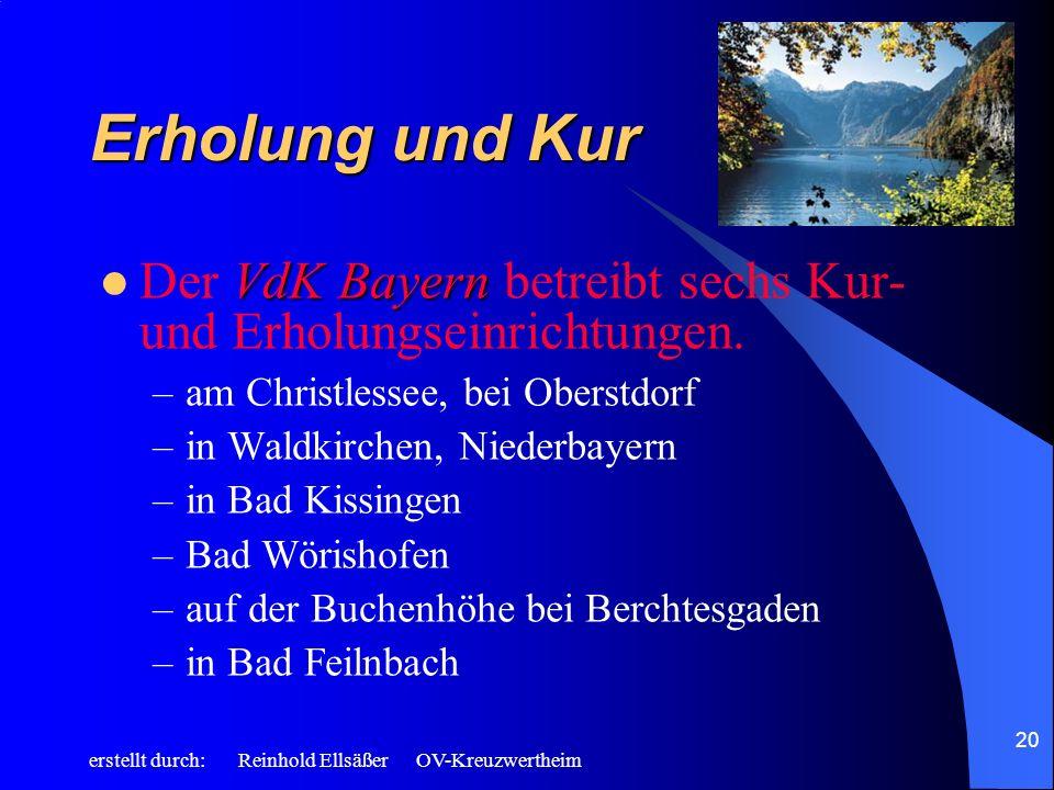 Erholung und Kur Der VdK Bayern betreibt sechs Kur- und Erholungseinrichtungen. am Christlessee, bei Oberstdorf.