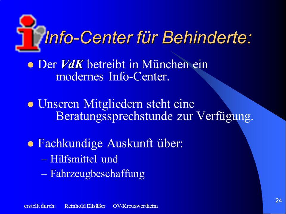 Info-Center für Behinderte: