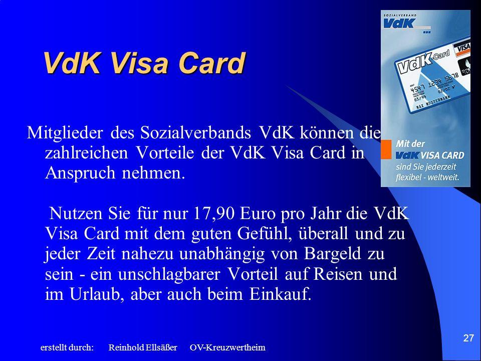 VdK Visa Card