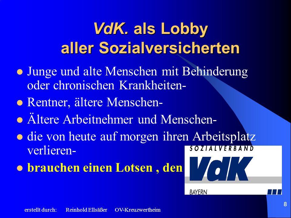 VdK. als Lobby aller Sozialversicherten