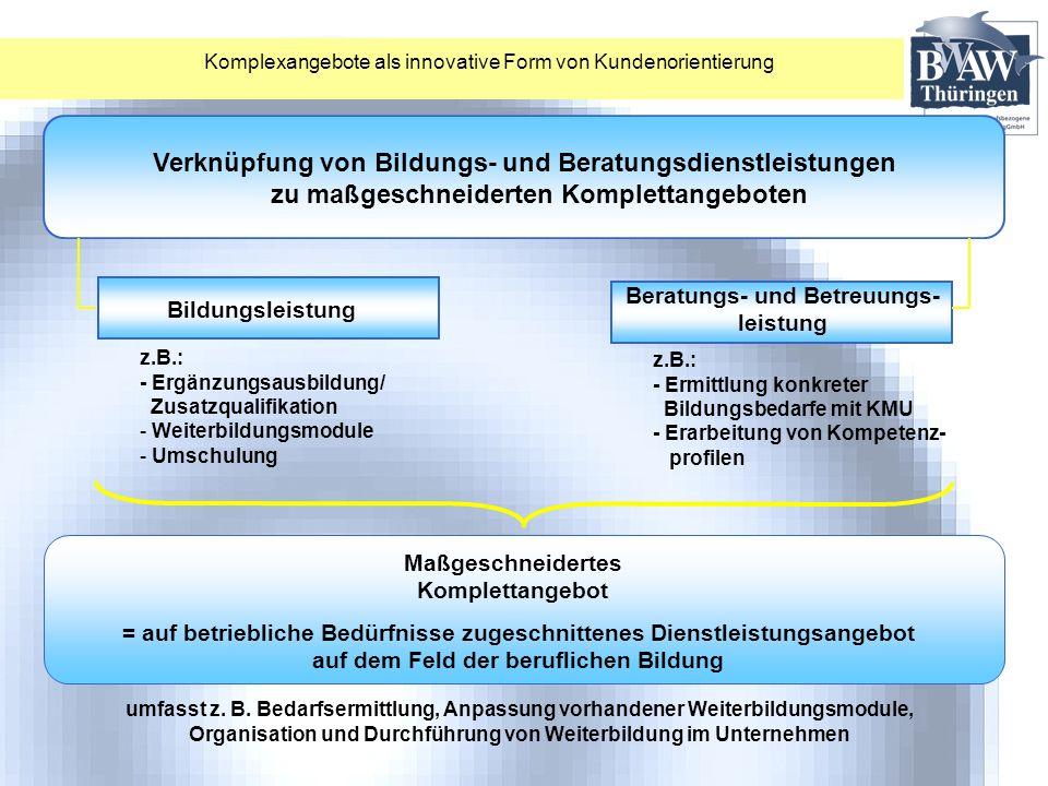 Verknüpfung von Bildungs- und Beratungsdienstleistungen
