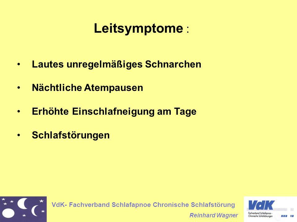 Leitsymptome : Lautes unregelmäßiges Schnarchen Nächtliche Atempausen
