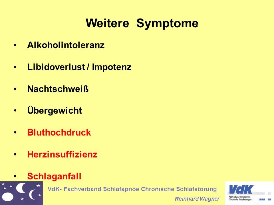Weitere Symptome Alkoholintoleranz Libidoverlust / Impotenz