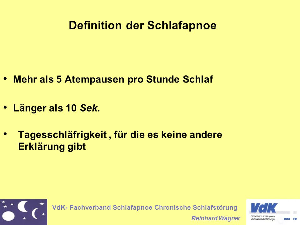 Definition der Schlafapnoe