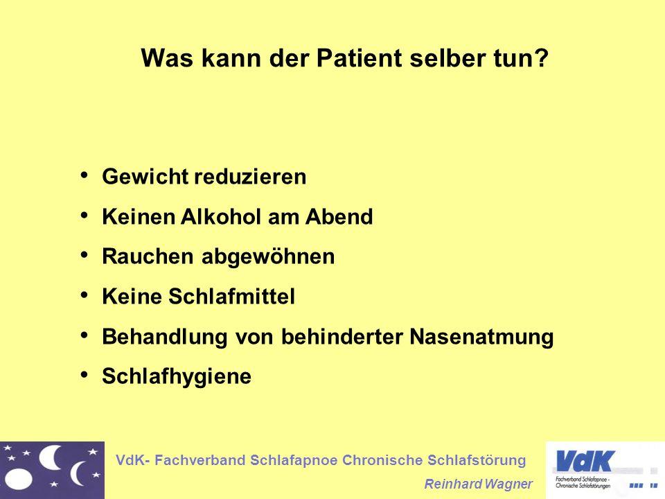 Was kann der Patient selber tun