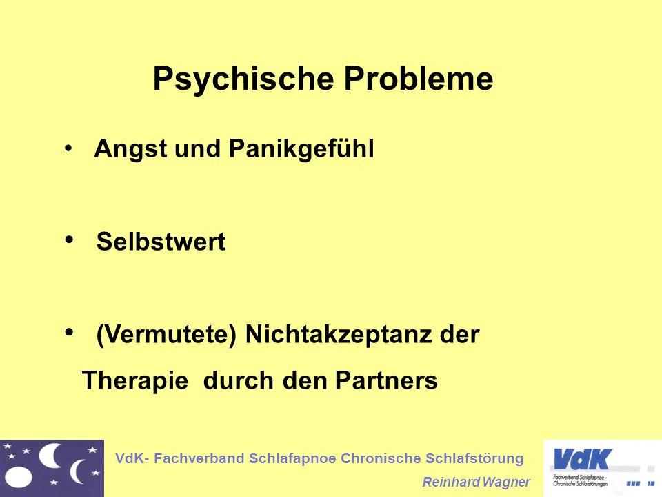 (Vermutete) Nichtakzeptanz der Therapie durch den Partners