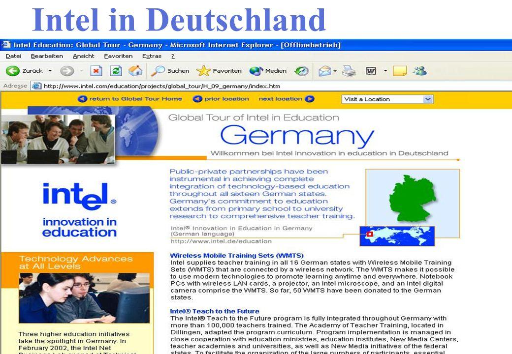 Intel in Deutschland Interaktive Webseite Ergebnisse besprechen