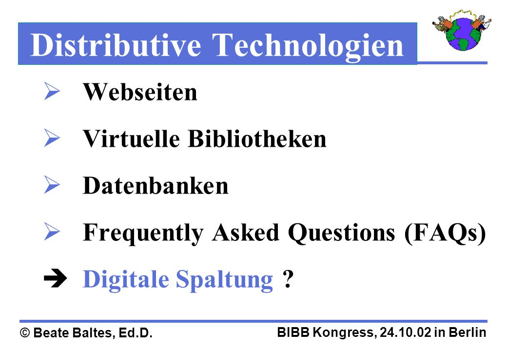 Distributive Technologien