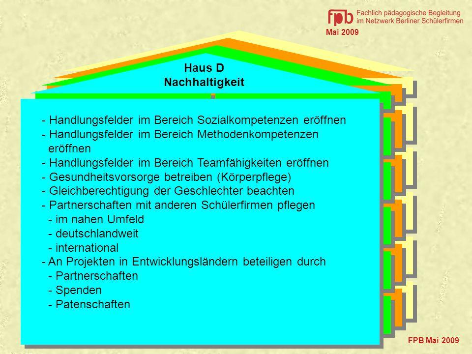 - Handlungsfelder im Bereich Sozialkompetenzen eröffnen