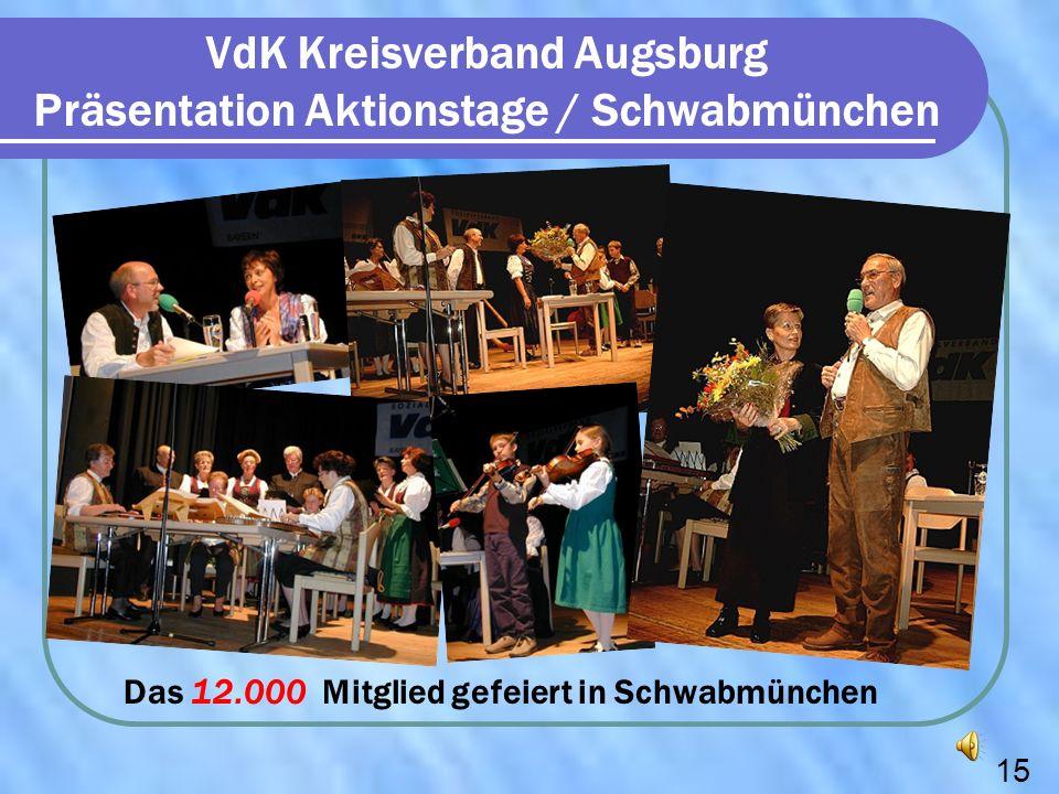 VdK Kreisverband Augsburg Präsentation Aktionstage / Schwabmünchen