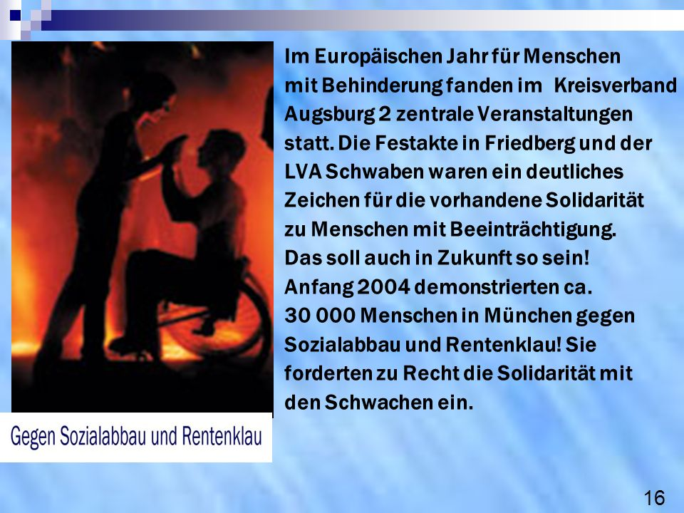 Im Europäischen Jahr für Menschen