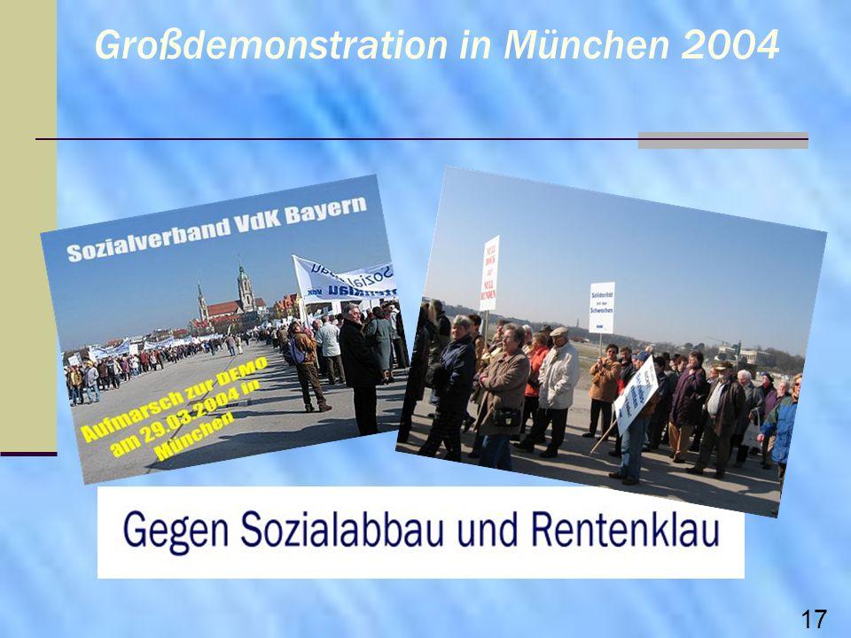 Großdemonstration in München 2004