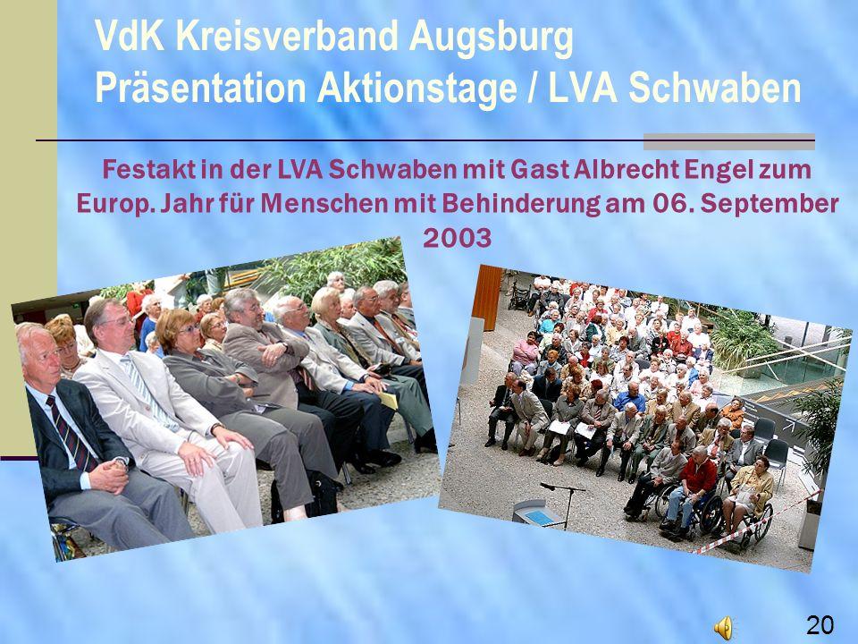 VdK Kreisverband Augsburg Präsentation Aktionstage / LVA Schwaben