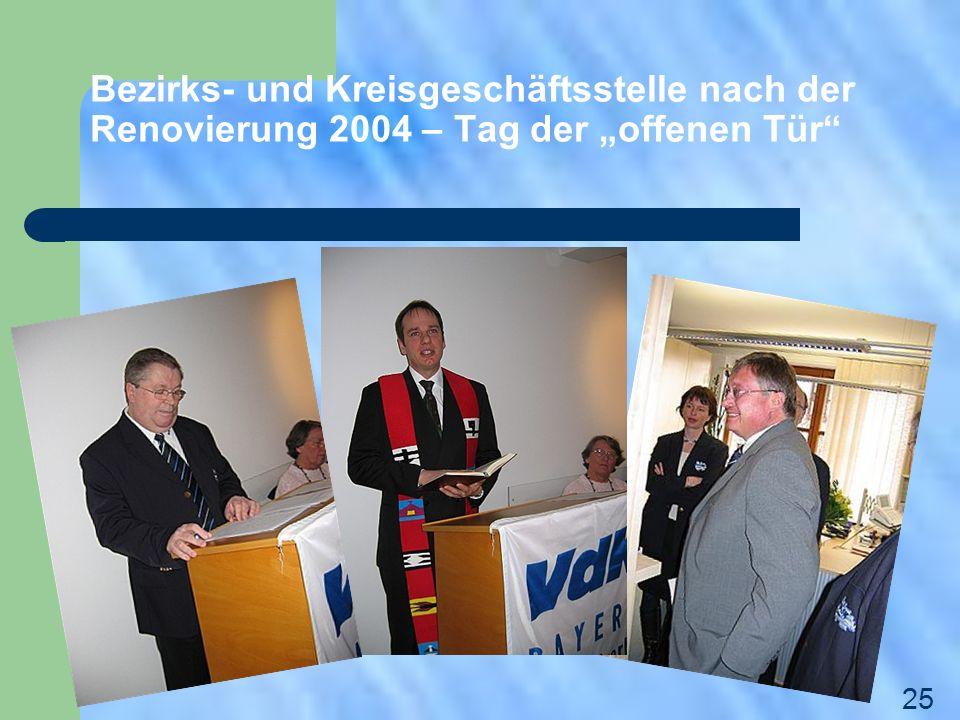 """Bezirks- und Kreisgeschäftsstelle nach der Renovierung 2004 – Tag der """"offenen Tür"""