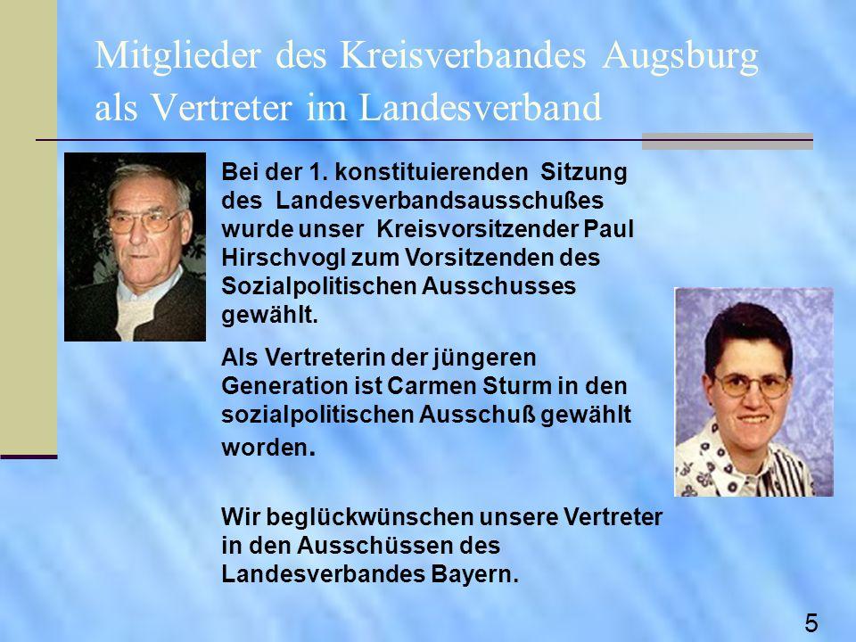 Mitglieder des Kreisverbandes Augsburg als Vertreter im Landesverband