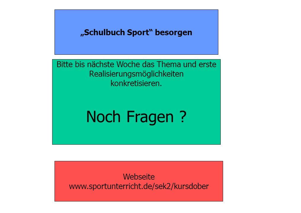 """""""Schulbuch Sport besorgen"""