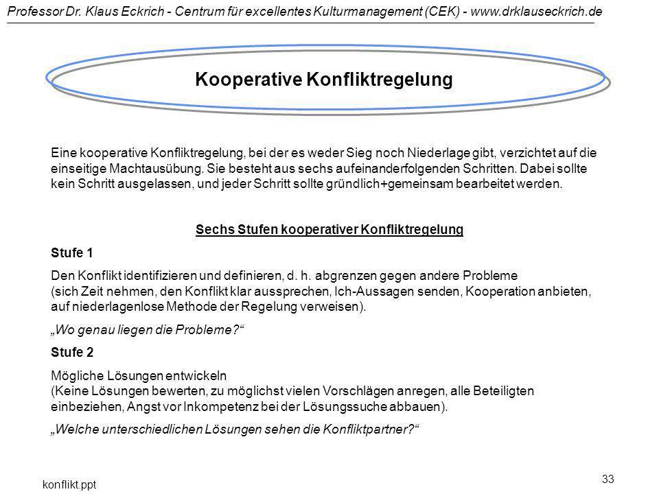 Kooperative Konfliktregelung