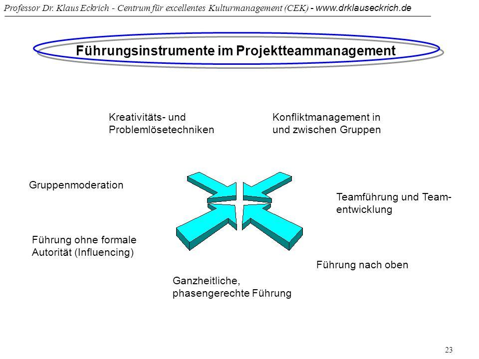 Führungsinstrumente im Projektteammanagement