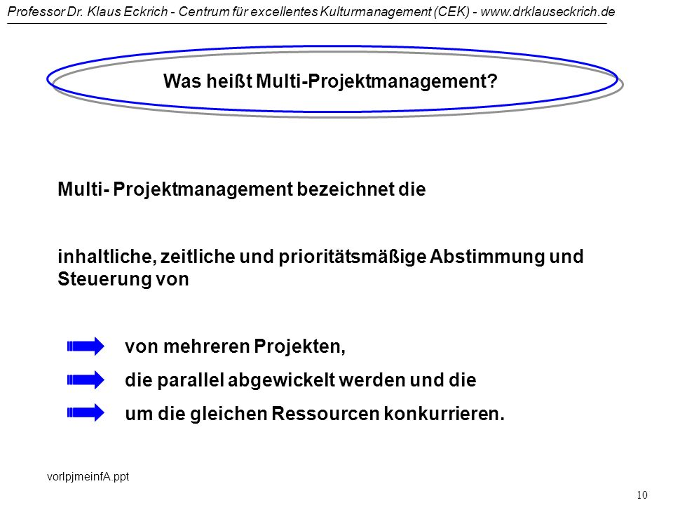 Was heißt Multi-Projektmanagement