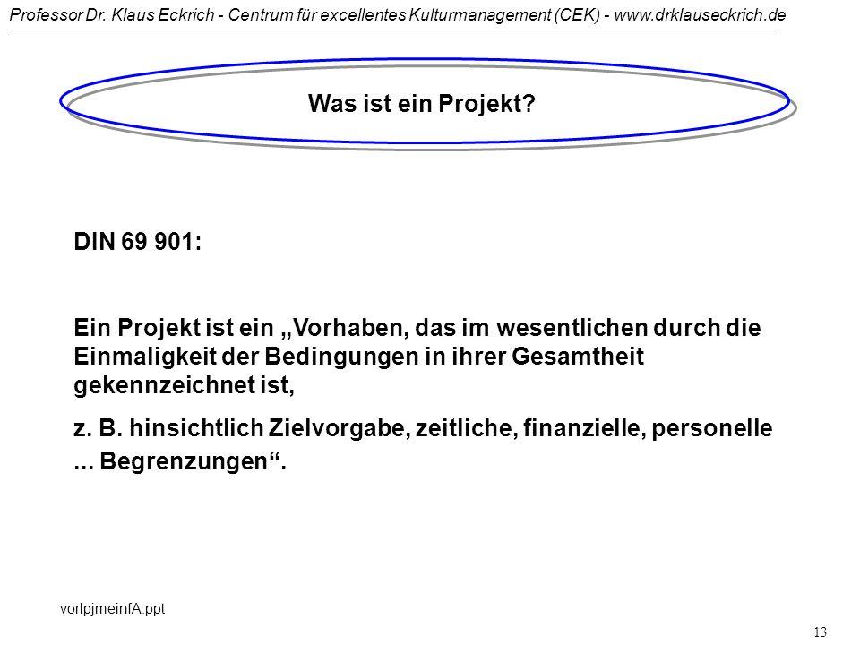 Was ist ein Projekt DIN 69 901: