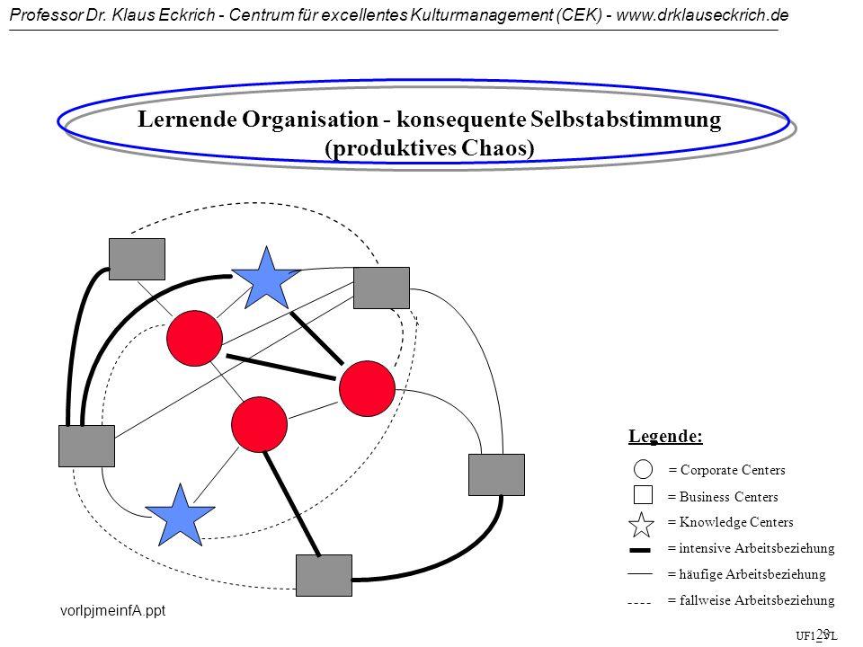 Lernende Organisation - konsequente Selbstabstimmung (produktives Chaos)
