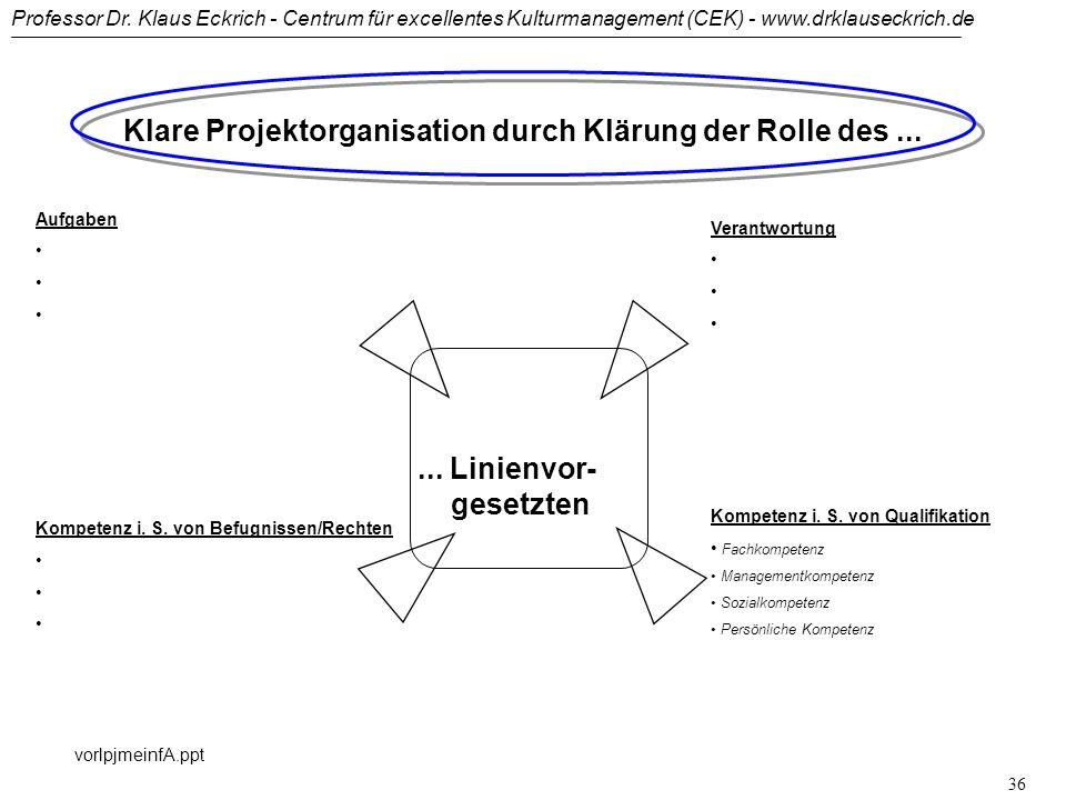 Klare Projektorganisation durch Klärung der Rolle des ...