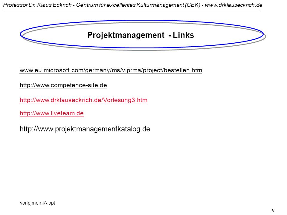 Projektmanagement - Links
