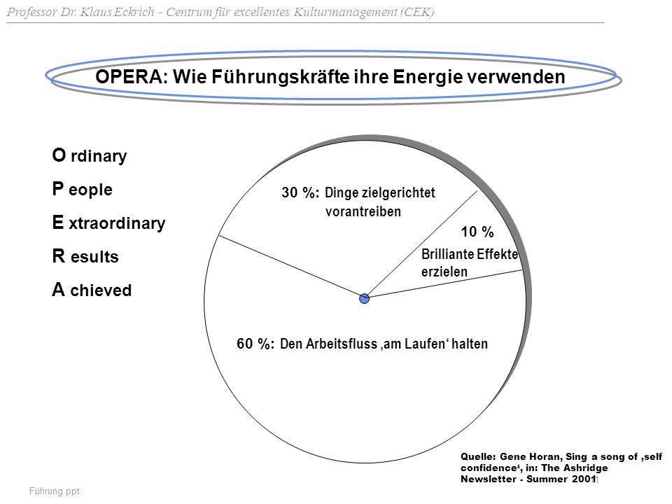OPERA: Wie Führungskräfte ihre Energie verwenden