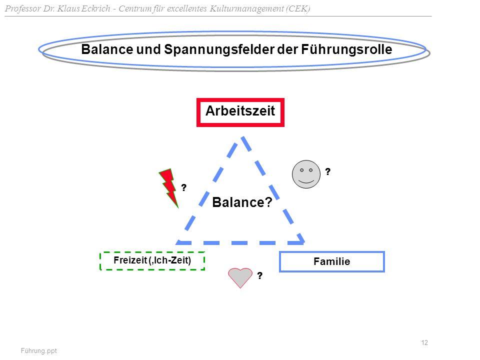 Balance und Spannungsfelder der Führungsrolle
