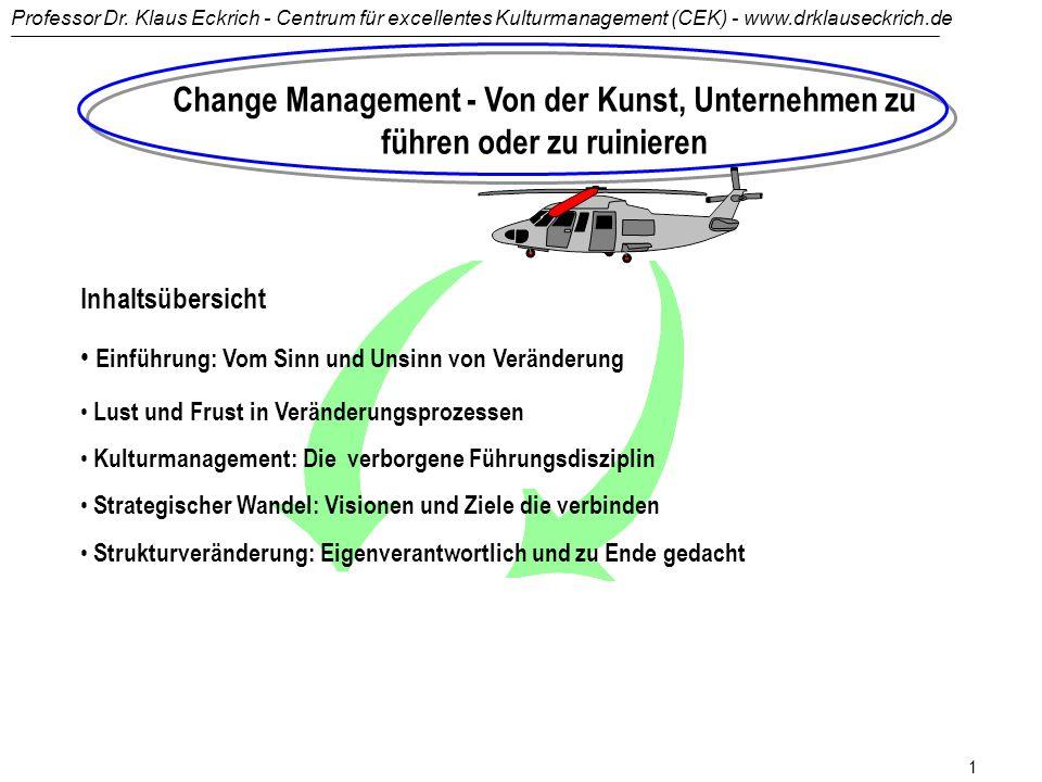 Change Management - Von der Kunst, Unternehmen zu führen oder zu ruinieren