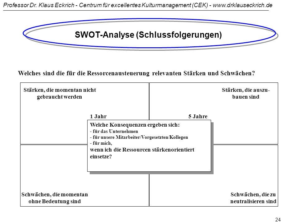 SWOT-Analyse (Schlussfolgerungen)