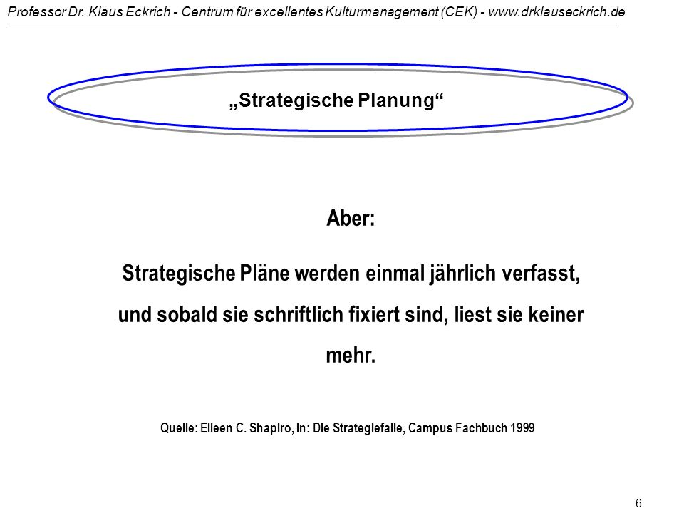 """Strategische Planung"