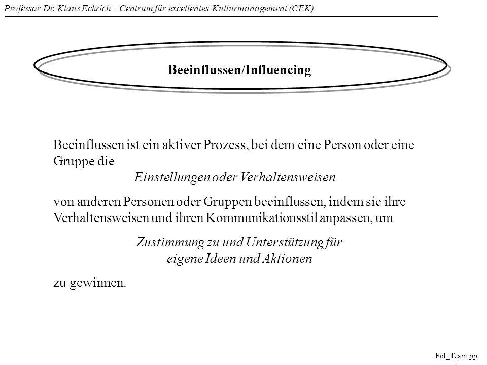 Beeinflussen/Influencing